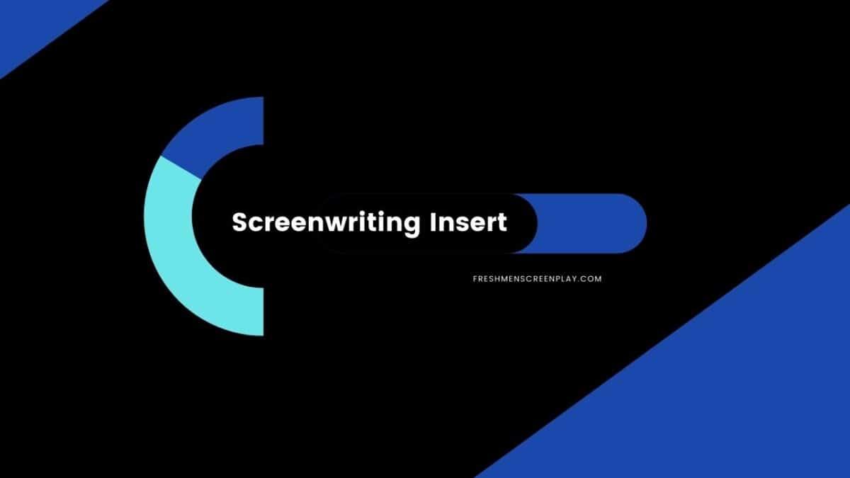 Screenwriting Insert