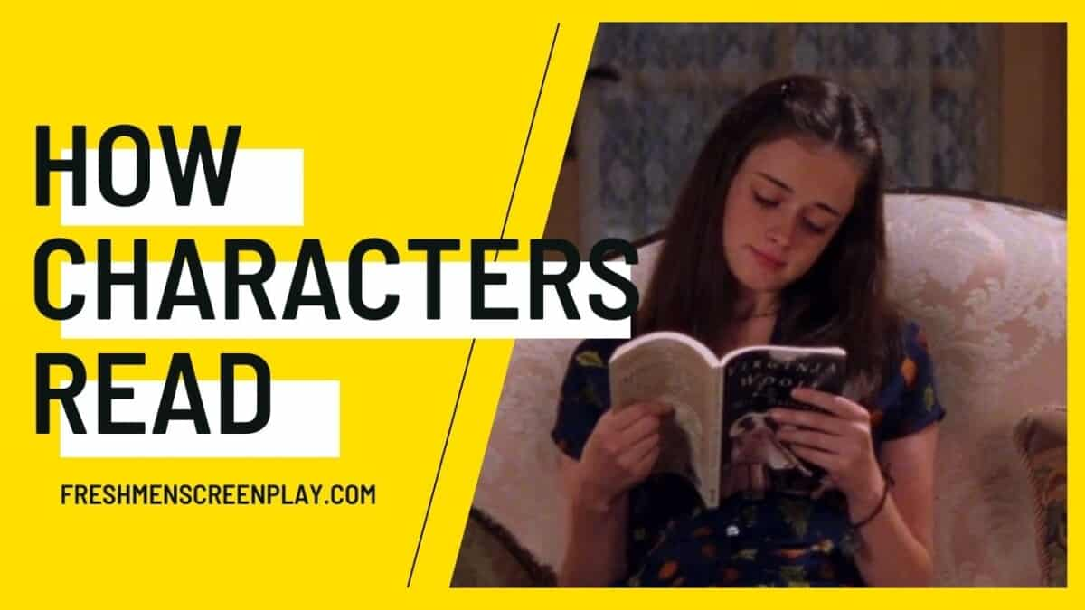 how to write a character reading in a screenplay