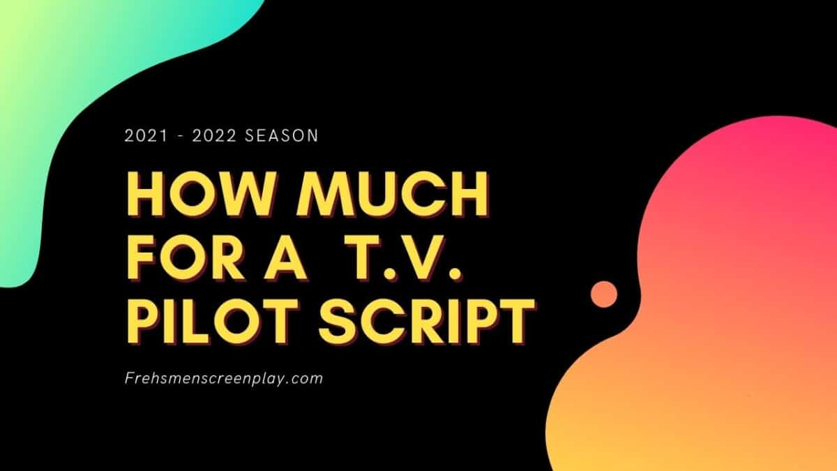 How much for a T.V. Pilot Script